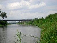 Most na DK78 w miejscowości Olza 300 metrów w dół od ujścia Olzy do Odry
