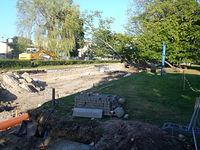 Prace w parku wejherowskim