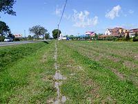 Droga dla rowerów i pieszych wzdłuż drogi na Sochaczew