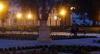 Biała Podlaska. Park Radziwiłłowski wieczorową porą