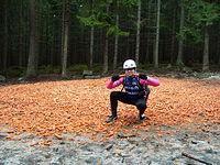 Po przejechaniu 3km o ja pierdzielę ;) trafiam na super marchewkowe pole w środku lasu, środku zimy ;). No to czas na konsumpcję ;) wraz z leśnymi mieszkańcami, myślę że się podzielą ;)