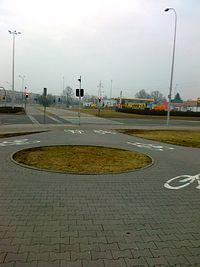 To rondo na drodze rowerowej bardzo mi się podoba