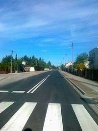 Nowy asfalt w Truskawiu