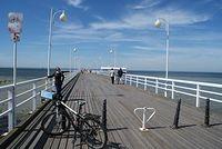 Jurata - na molo obowiązuje zakaz jazdy na rowerze