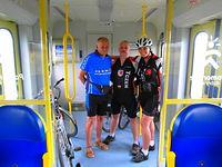 Od lewej Rysiu z Gdańska, Tomek i Ja