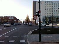 Zakaz jazdy rowerem przez skrzyżowanie