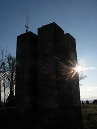 Pylony cmentarza w Staszkówce