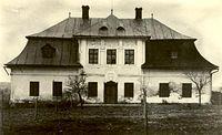 Dwór w Dolnych Domasłowicach w latach 30-tych XX w