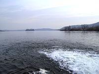 Jezioro hlučínskie od strony Jilešovic