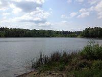 Jezioro Długie na terenie Puszczy Noteckiej - w drodze do Piłki