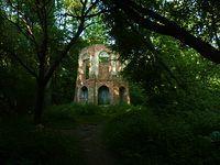 Ruiny pałacyku myśliwskiego Potockich w Morysinie