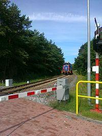 Na przejeźdźie kolejowym
