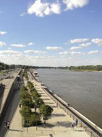 Wisła z mostu Śląsko-Dąbrowskiego