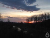 Zachód słońca nad Ropą