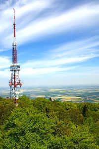 Krajobraz z trasu widokowego na Ślęży kierunek Sobótka, Wrocław