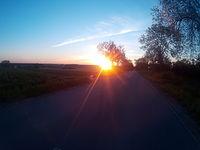 Wschód słońca w Słubicach