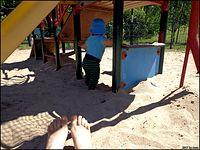Kiedyś długo zastanawiałam się po co cały plac zabaw w piasku