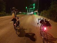 Selfie na moście we Włocławku