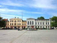 Centrum Wągrowca z placem na rynku