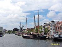 Lejda-statki, wiatrak, most