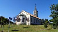 Kostel svaté Kateřiny w miejscowości Slezské Rudoltice (CZ)