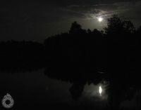 Przechodzą chmury, wschodzi późny księżyc