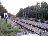 Szlak Katowice Ligota-Ruda Kocłowice wieczorową porą. Kiedyś jeździły tu pociągi osobowe z Gliwic do Ligoty