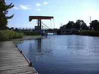 Rybina- drogowy most zwodzony na Szkarpawie