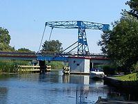 Rybina- drogowy most zwodzony na Wiśle Królewieckiej