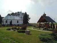Skwer Jana Pawła II w miejscowości Trawniki