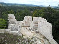 Ruiny Zamku Smoleń foto Daria