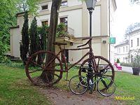 Zamek Cieszyn-dwa rowery