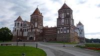 Zamek w Mirze od frontu