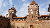 Zamek w Mirze dziedziniec