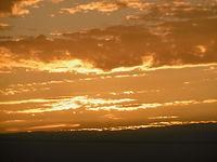 I ten sam zachód słońca ale z bardziej intensywnymi kolorami
