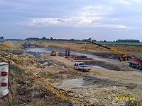 Budowa A1 obok lotniska w Pyrzowicach