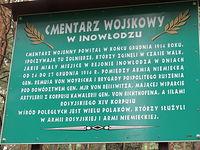 Tablica informacyjna przed cmentarzem