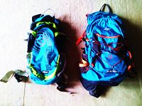 Dwa plecaki na rower