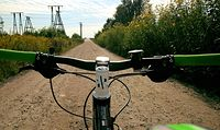 Piękny rowerowy poranek