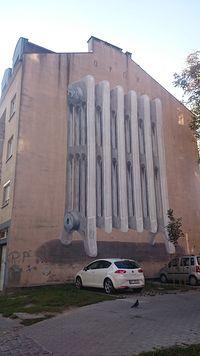 Kolejny mural na Pradze