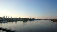 Widok na Wisłę z mostu Łazienkowskiego