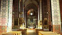 Wnętrze kościoła w Lwówku