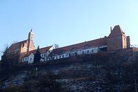 Podominikański kościół p.w. ś.ś. Jana Chrzciciela i Jana Ewangelisty oraz Wieża Mestwina widziane od strony Szlaku Starego Chełmna