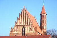 Szczyt i wieża kościoło p.w. ś.ś. Jakuba Starszego i Mikołaja