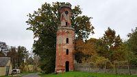 Warszyn (niem. Warsin) XIX-wieczna wieża widokowa z rozebranego, starego pałacu przy drodze