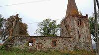 Płońsko (niem: Plönzig) Ruiny zabytkowego kościoła z XV wieku