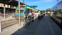 Wyremontowany peron w Nysie