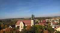 Widok z wieży zamku w Otmuchowie