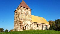 Stare Chrapowo (niem.Alt Grape)  Kościół filialny p.w. Podwyższenia Krzyża Świętego z XV/XVI w