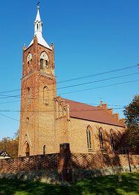 Ryszewko (niem.Klein Rischow) Kościół parafialny p.w. Wniebowzięcia NMP z 1866 r